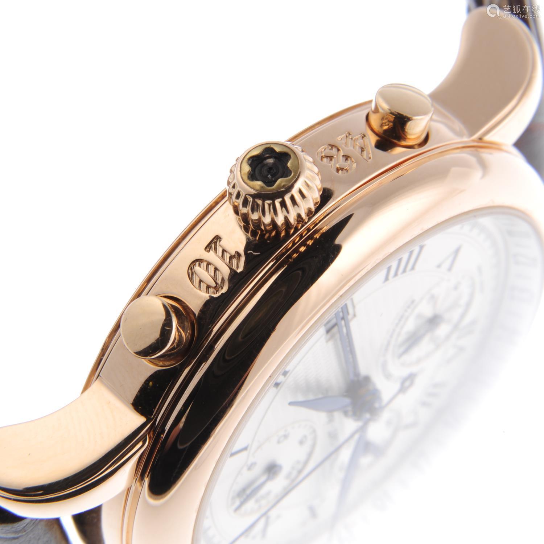 MONTBLANC - a gentleman's Star GMT chronograph wrist watch.
