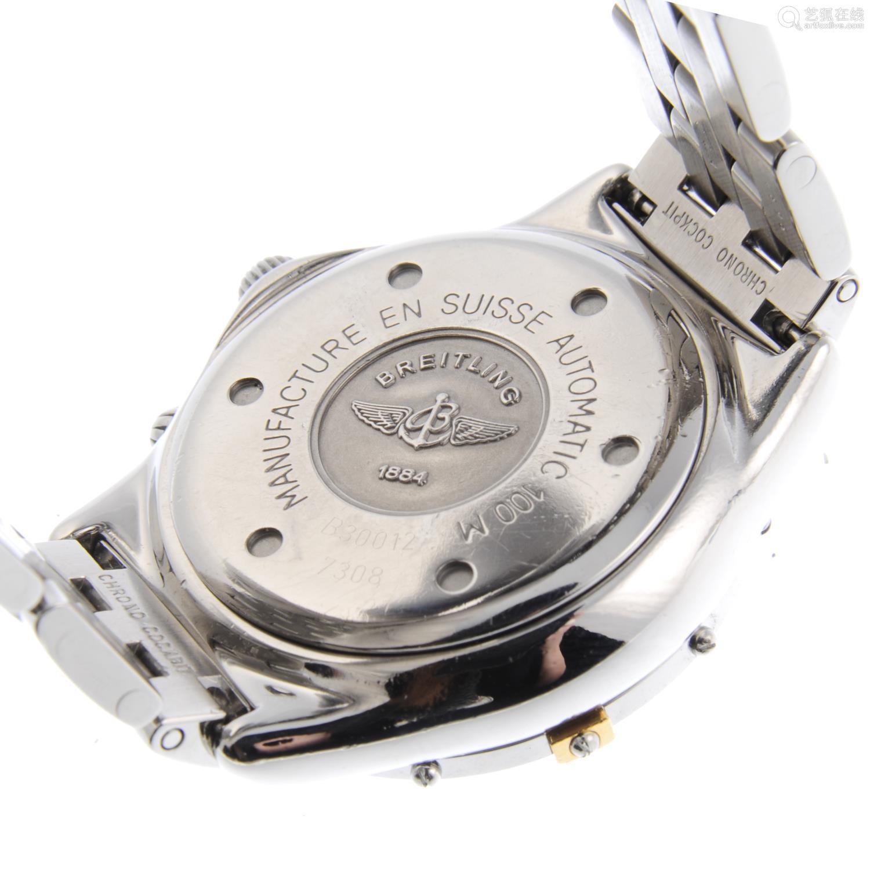BREITLING - a gentleman's Windrider Chrono Cockpit chronograph bracelet watch.