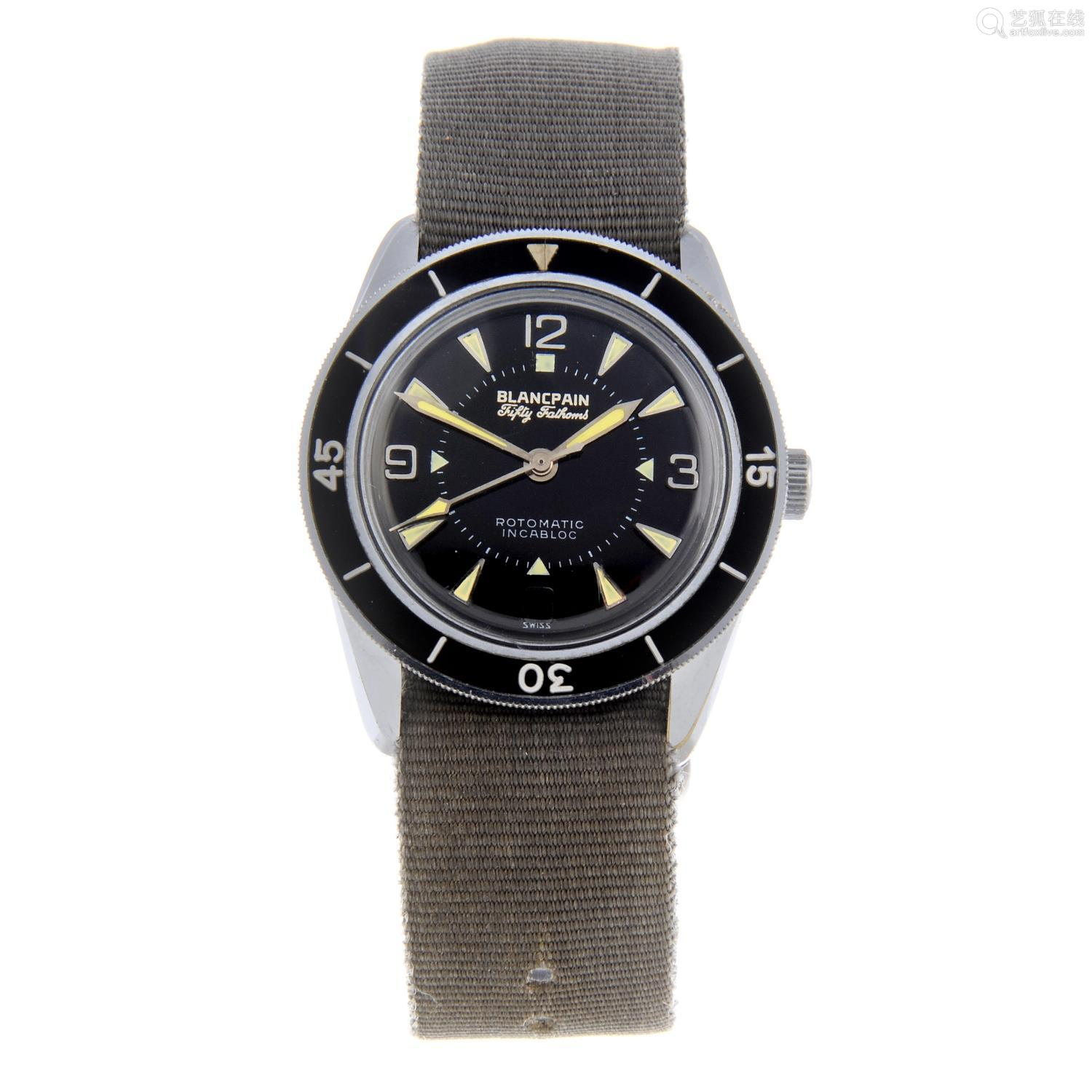 BLANCPAIN - a gentleman's Fifty Fathoms Bathyscaphe wrist watch.
