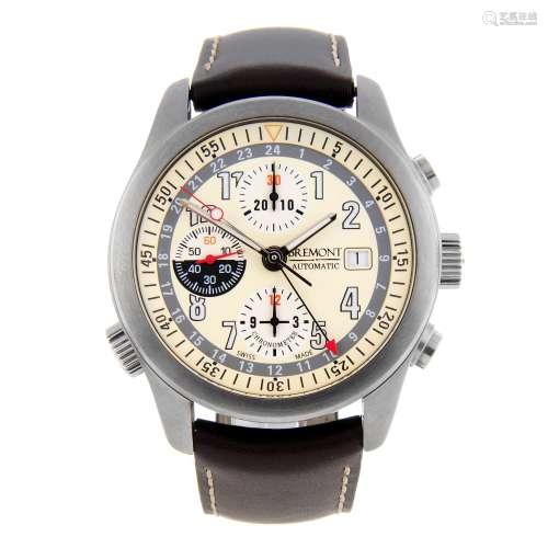 BREMONT - a gentleman's Zulu chronograph wrist watch.