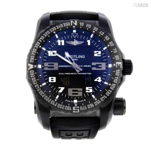 BREITLING - a gentleman's Emergency Night Mission wrist watch.