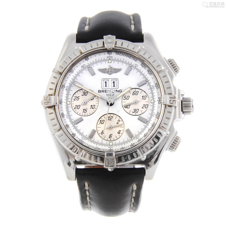 BREITLING - a gentleman's Windrider Crosswind Special chronograph bracelet watch.