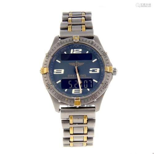 BREITLING - a gentleman's Aerospace bracelet watch.