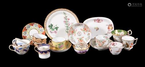 A selection of First Period Wedgwood bone china, circa 1820, including: a two-handled pot-pourri and