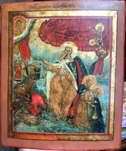 LE PROPHÈTE ÉLIE ET SCÈNES DE VIE, RUSSIE, XIXeSIÈCLE