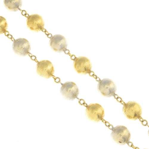 BUCHERER - a mid 20th century necklace. Of bi-colour