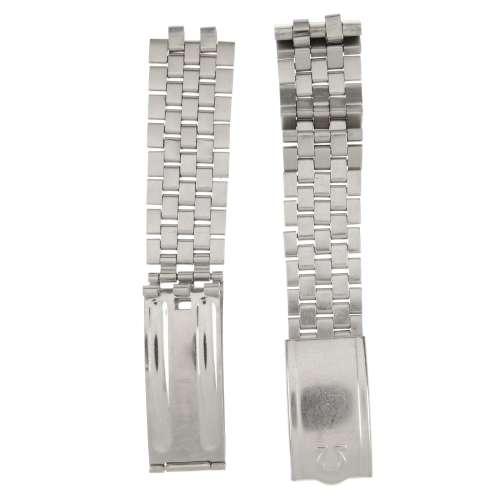 OMEGA - a stainless steel watch bracelet.