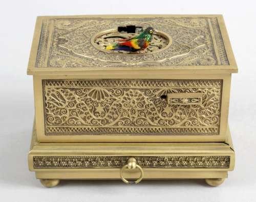 A 20th century gilt metal cased clockwork,