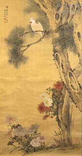 Chine, XXe siècle Peinture à l'encre et couleurs s…