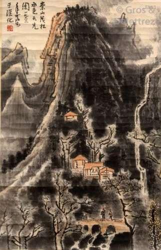 Chine, deuxième moitié du XXe siècle.\t \nPeinture à…