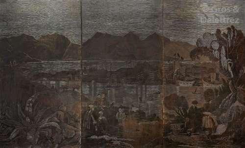 École Chinoise (XXe siècle) Vue présumée de la bai…