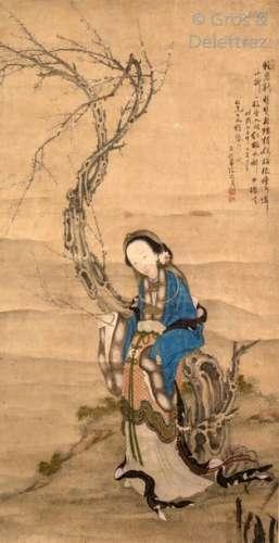 Chine, début du XXe siècle Peinture à l'encre et c…