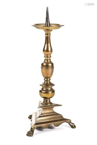 Pique-cierge d'époque Louis XIV en bronze