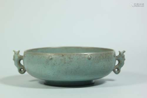 A RUYAO CENSER.ANTIQUE