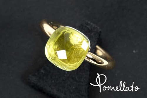 POMELLATO ring in roos en witgoud (18 karaat) bezet met een citrine getekend - - [...]