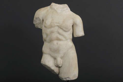 OUD ROMEINSE RIJK - 1° EEUW BC tot 1° EEUW (?) sculptuur in witte marmer :