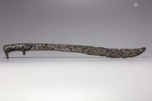 A medieval Spanish Iron sword