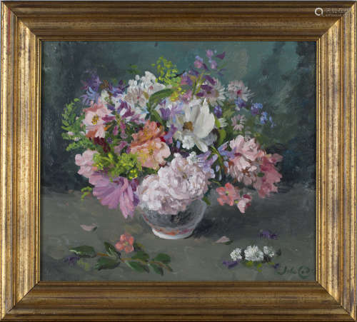 John Whitlock Codner - 'Summer Bouquet', 20th century oil on board, signed recto, titled and