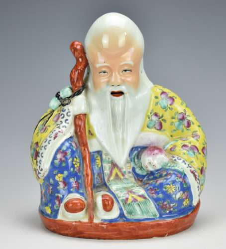 Chinese Famille Rose Figure of Shouxing,19/20th C