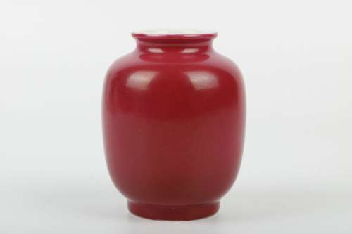 A Chinese Red Glazed Porcelain Vase