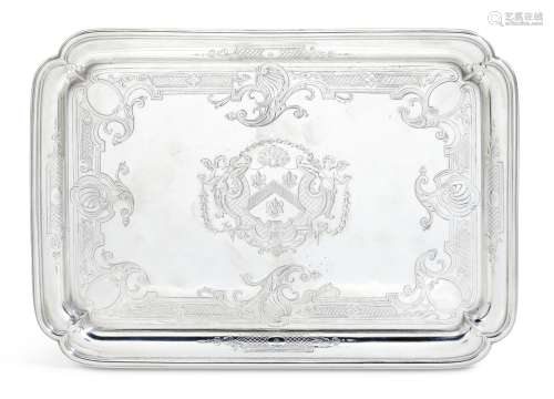 A George II silver salver, Paul de Lamerie, London, 1732