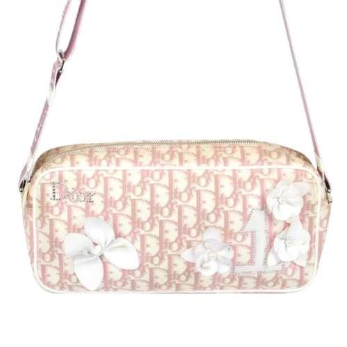 CHRISTIAN DIOR - a Diorissimo Girly camera handbag.
