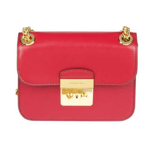 MICHAEL KORS - a red Sloan crossbody handbag. Crafted