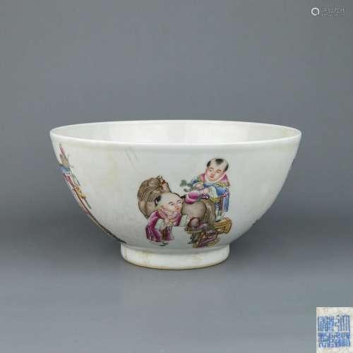 A Chinese Dou-Cai Porcelain Bowl