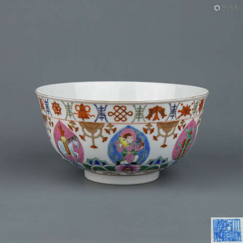 A Chinese Famille-Rose Porcelain Bowl