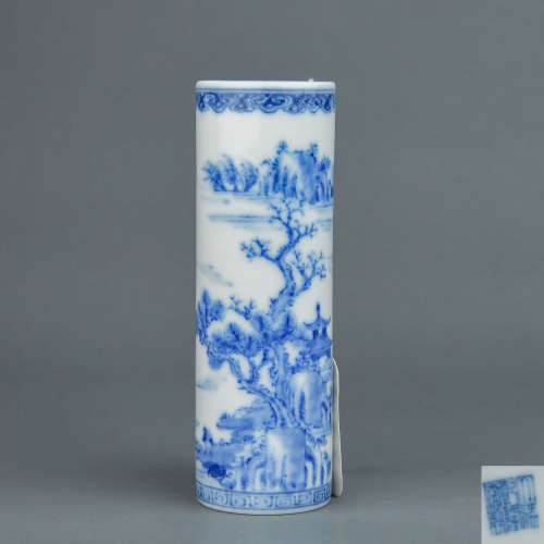 A Chinese Blue and White Porcelain Incense Drum
