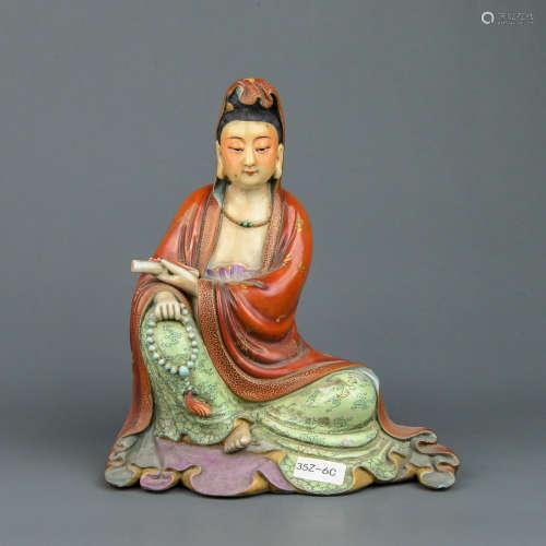 A Chinese Enamel Porcelain Buddha