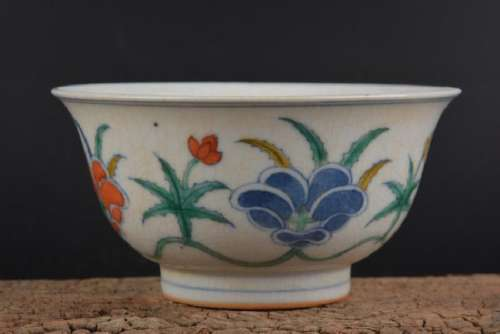 A FAMILLE VERTE BOWL CHENGHUA MARK 14TH/C.