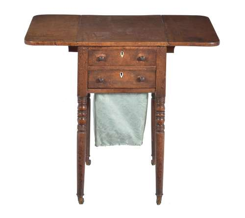 A Regency mahogany Pembroke work table
