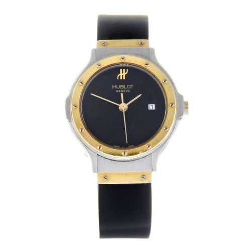 HUBLOT - a lady's MDM wrist watch. Stainless steel case
