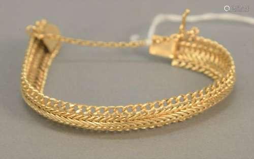 14K gold mesh bracelet, 36.4 gr.